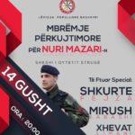 Mbrëmje muzikore për nderim të Komandant Nuri Mazarit -Struges