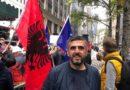 Përfaqësuesi i OVL UÇK për Amerikë nënkolonel Astrit Huskaj protestoi me shok sot para konsullates serbe në New York