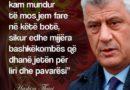 E.Selca:Kreu i UÇK-së Hashim Thaçi me bashkëluftëtar duhet të lirohen sa ma parë , në Hagë vendin e kanë serbët